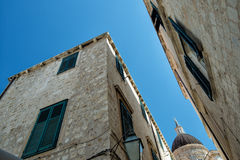 Dubrovnik-Kirche stockfotografie