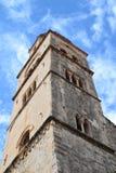 Dubrovnik kościelny wierza, Chorwacja Obrazy Stock