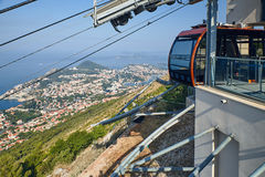 Dubrovnik from Kriz, Croatia. Dubrovnik from above, panoramic shot from Kriz Cable car Stock Image