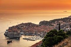 Dubrovnik in Kroatië stock afbeeldingen