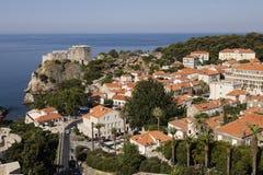 Dubrovnik, Kroatië, 20 Juli 2017: Adembenemende mening van moderne Dubvronik Royalty-vrije Stock Foto
