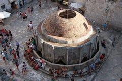 Dubrovnik, Kroatië De Fontein van grote Onofrio Stock Foto
