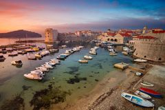 Dubrovnik, Kroatien stockfotos