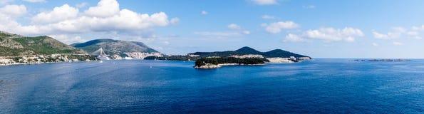 Dubrovnik in Kroatien stockfotos
