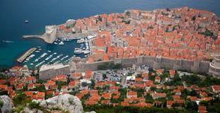 Dubrovnik Kroatien från över Arkivfoto