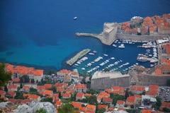 Dubrovnik Kroatien från över Royaltyfri Foto
