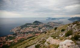 Dubrovnik Kroatien från över Royaltyfri Fotografi