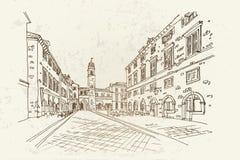 Dubrovnik, Kroatien Retro- Art Stockfoto