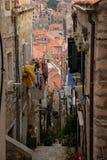 Dubrovnik, Kroatien, schmale Gasse in der alten Stadt Stockbilder