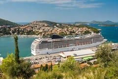 Dubrovnik Kroatien - September 09, 2009: Det stort Royaltyfri Fotografi