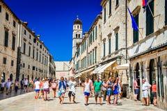 Dubrovnik, Kroatien - Stradum Lizenzfreies Stockbild