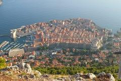 Dubrovnik, Kroatien von oben Lizenzfreie Stockfotografie