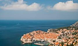 Dubrovnik Kroatiensikt från avstånd Royaltyfria Bilder