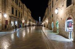 Dubrovnik la nuit Photo libre de droits
