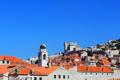 Dubrovnik Landscape - Croatia. The spectacular view of the red brick-made roofs in Dubrovnik, a Croatian city on the Adriatic Sea, in the region of Dalmatia Royalty Free Stock Images