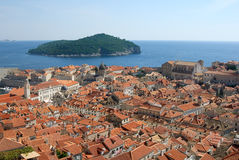 Dubrovnik and Lokrum close Stock Photography