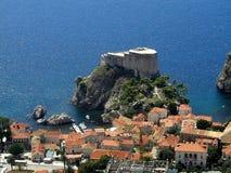 Dubrovnik - Lovrijenac - croata Fotografía de archivo