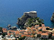 Dubrovnik - Lovrijenac - Kroatisch Stock Fotografie