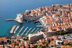 Dubrovnik-Luftaufnahme lizenzfreie stockfotografie