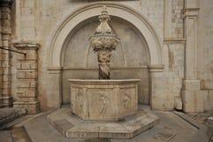 Dubrovnik - Mała Onofrio fontanna, Chorwacja Obrazy Royalty Free