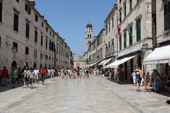Dubrovnik main street - Stradun Stock Photo