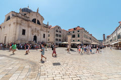 Dubrovnik main street Stradun or Placa Stock Photo