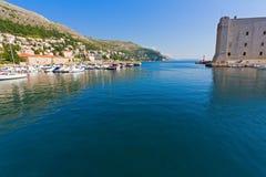 Dubrovnik marina. View of marina in Dubrovnik, Croatia Stock Photo