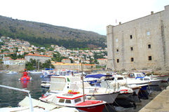 Dubrovnik marina Royaltyfria Bilder