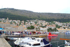 Dubrovnik marina Royaltyfria Foton