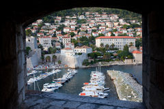Dubrovnik Marina and City Royalty Free Stock Images