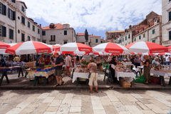 Dubrovnik market Royalty Free Stock Photo