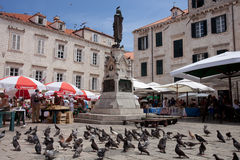 Dubrovnik market Royalty Free Stock Photography