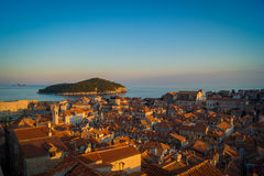 Dubrovnik Medieval City in the evening, Croatia. Stock Photo