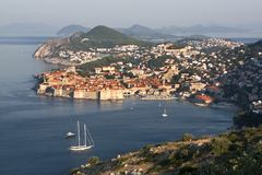 Dubrovnik medieval city postcard Royalty Free Stock Photography