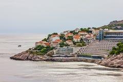 Dubrovnik-Meerblick, adriatische Meer Küste Kroatiens, Lizenzfreies Stockbild