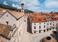 Dubrovnik miasta panoramiczny widok Obrazy Royalty Free