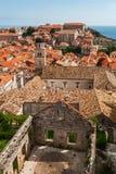 Dubrovnik miasta widok z basztowym i riuned domem Obraz Royalty Free