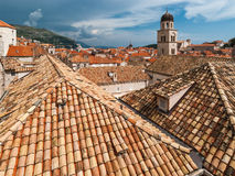 Dubrovnik miasta widok z wierza i wyspą Obrazy Stock