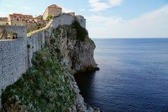Dubrovnik miasteczka stara ściana fotografia royalty free