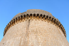 Dubrovnik Minceta tower. Close-up of the cornice of the Minceta tower fort in Dubrovnik Stock Images