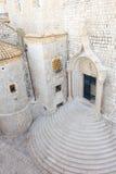 Dubrovnik monasteru Dominikański wejście fotografia stock