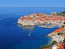 Dubrovnik morning, Croatia. Morning view, walled city of Dubrovnik, Croatia, on the Adriatic Sea royalty free stock image