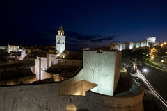 Dubrovnik-Nacht stockbild