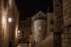 Dubrovnik nachts Stockfotografie
