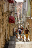 Dubrovnik narrow street Stock Photos