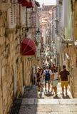 Dubrovnik narrow street Stock Photos