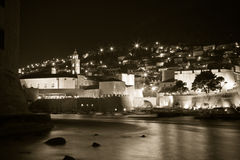Dubrovnik by night Royalty Free Stock Photography