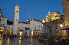 Dubrovnik at night Stock Image