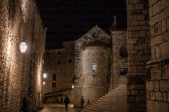 Dubrovnik at night Stock Photography