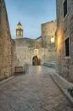 Dubrovnik at night - old town Stock Photo